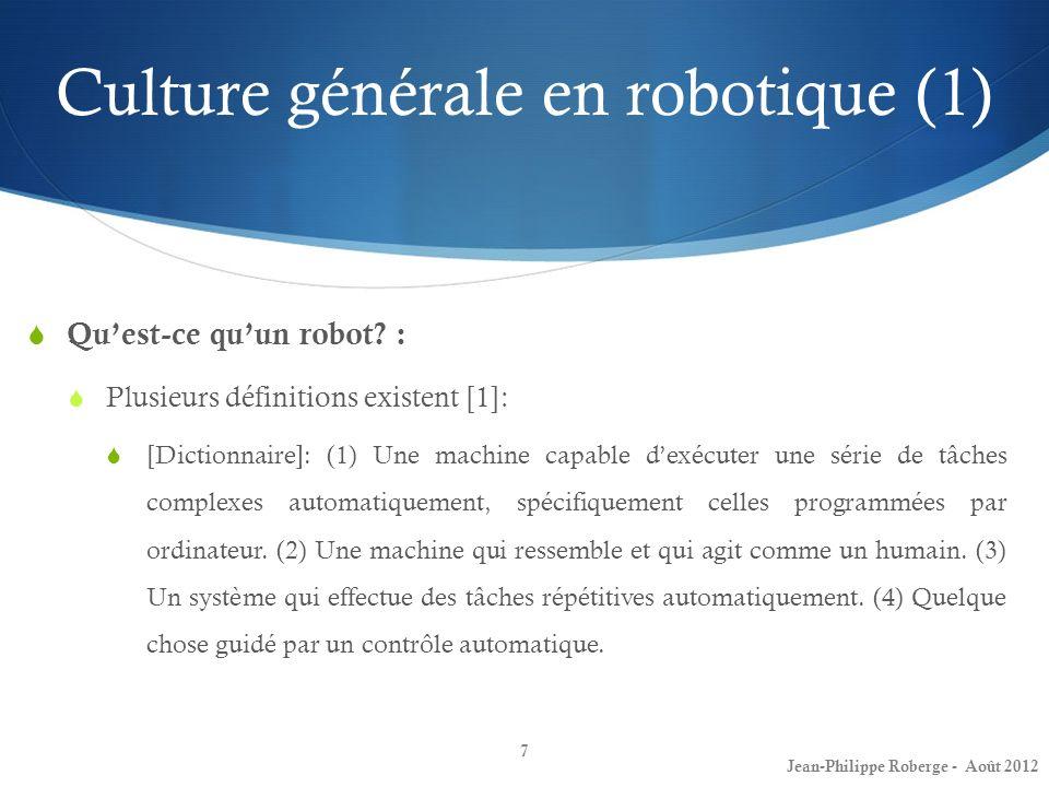 Culture générale en robotique (1)