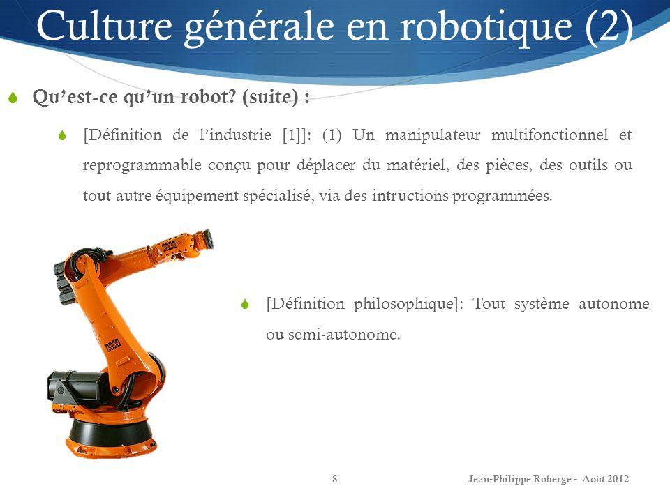 Culture générale en robotique (2)