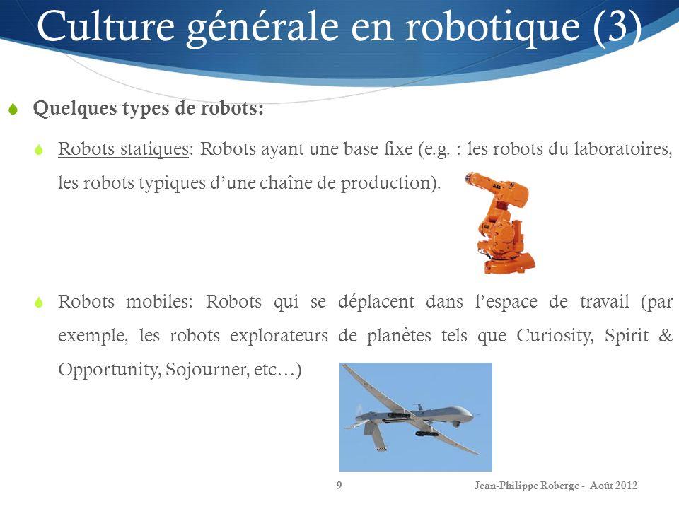 Culture générale en robotique (3)
