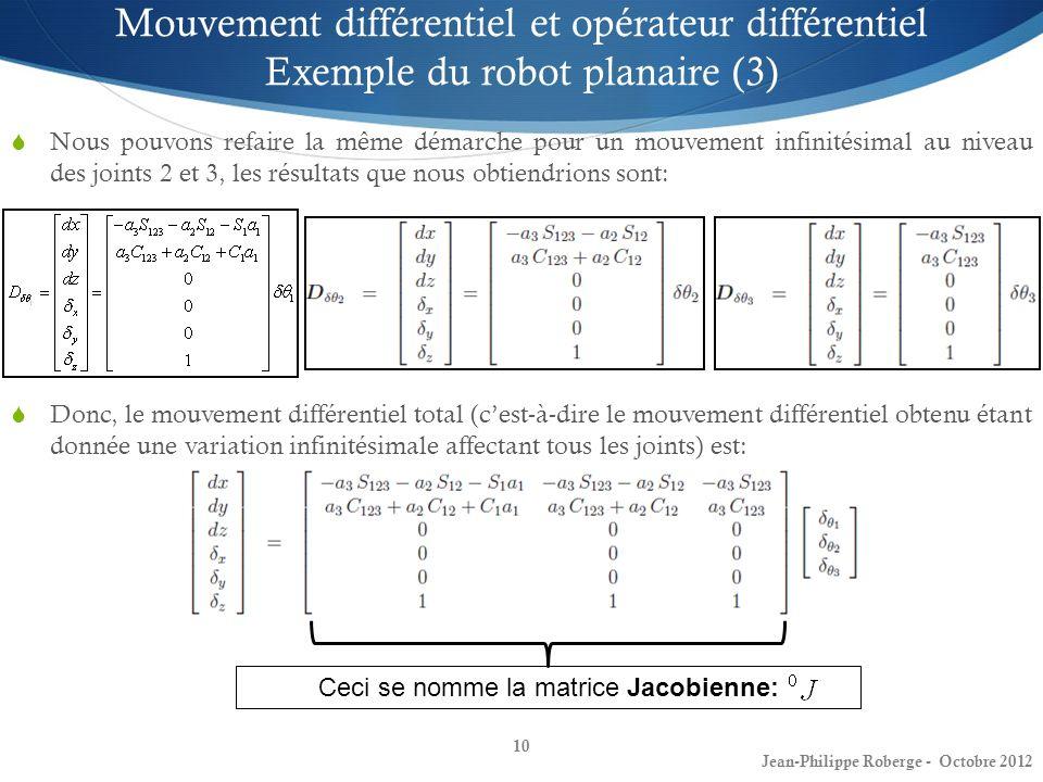 Ceci se nomme la matrice Jacobienne: