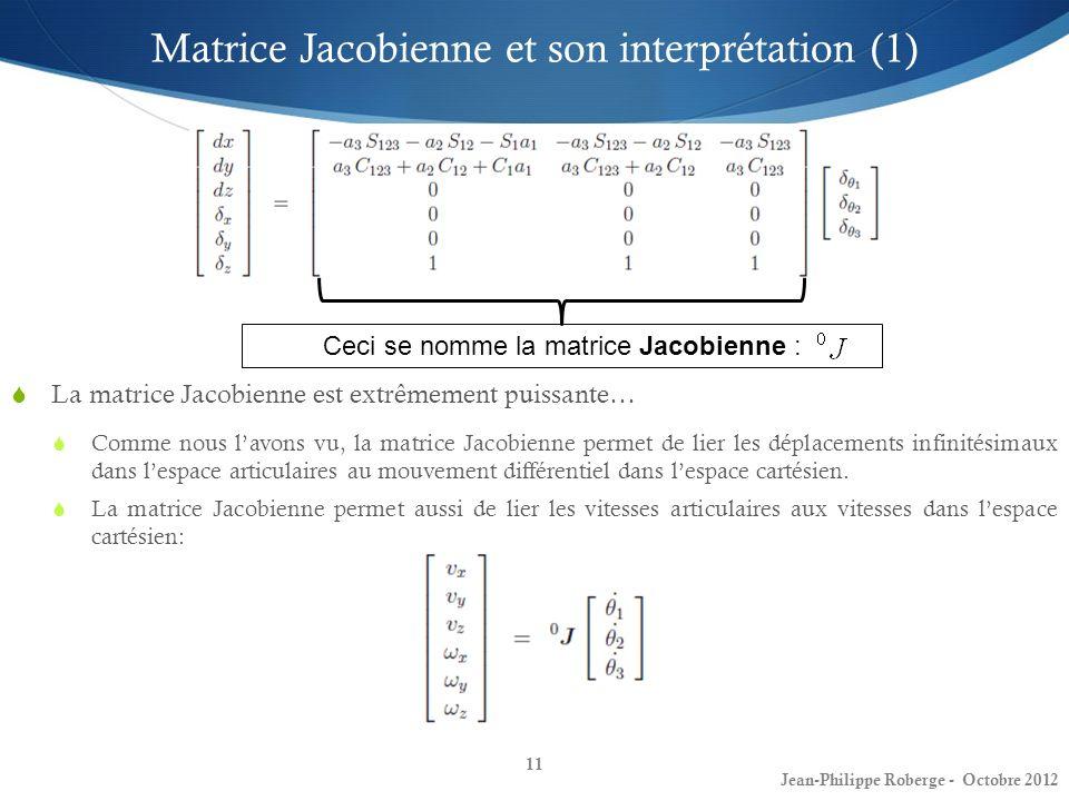 Matrice Jacobienne et son interprétation (1)