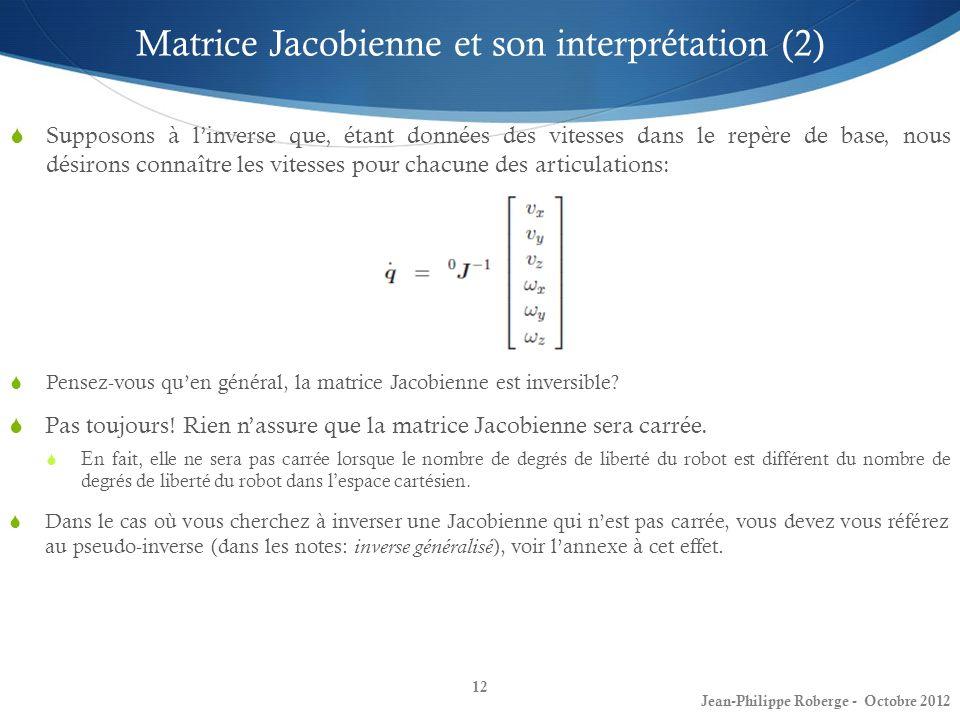 Matrice Jacobienne et son interprétation (2)