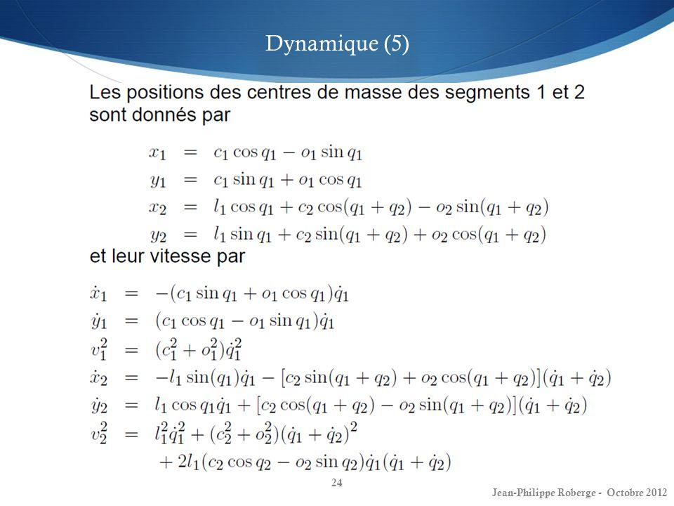 Dynamique (5) Jean-Philippe Roberge - Octobre 2012