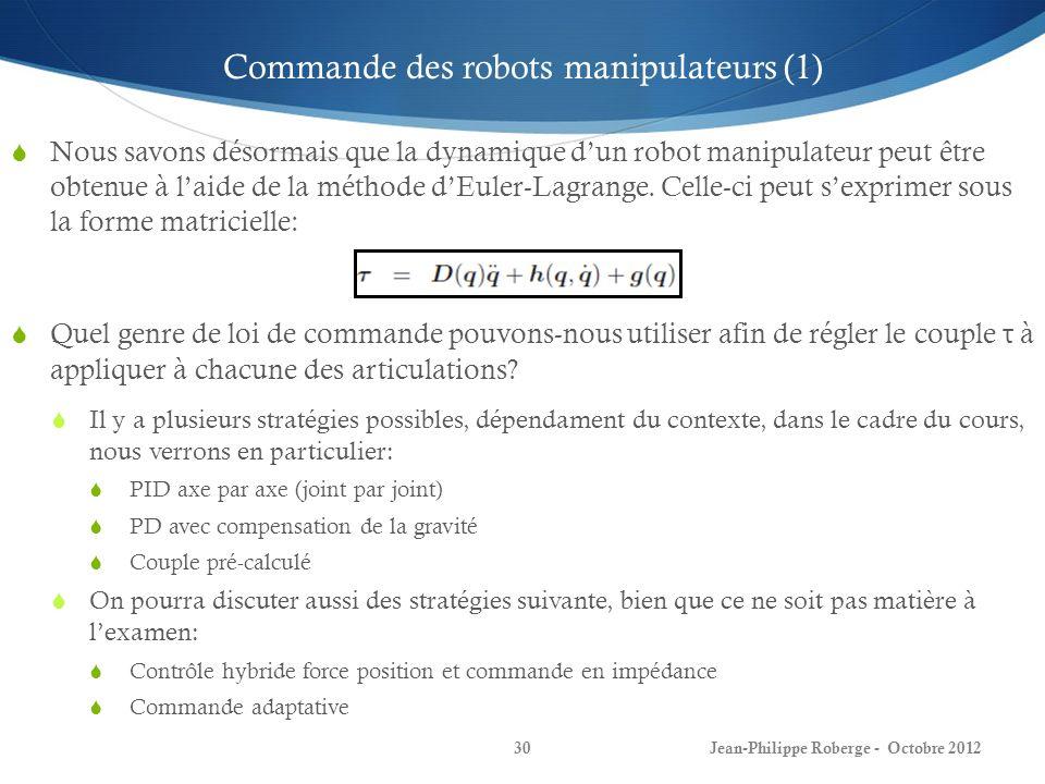 Commande des robots manipulateurs (1)