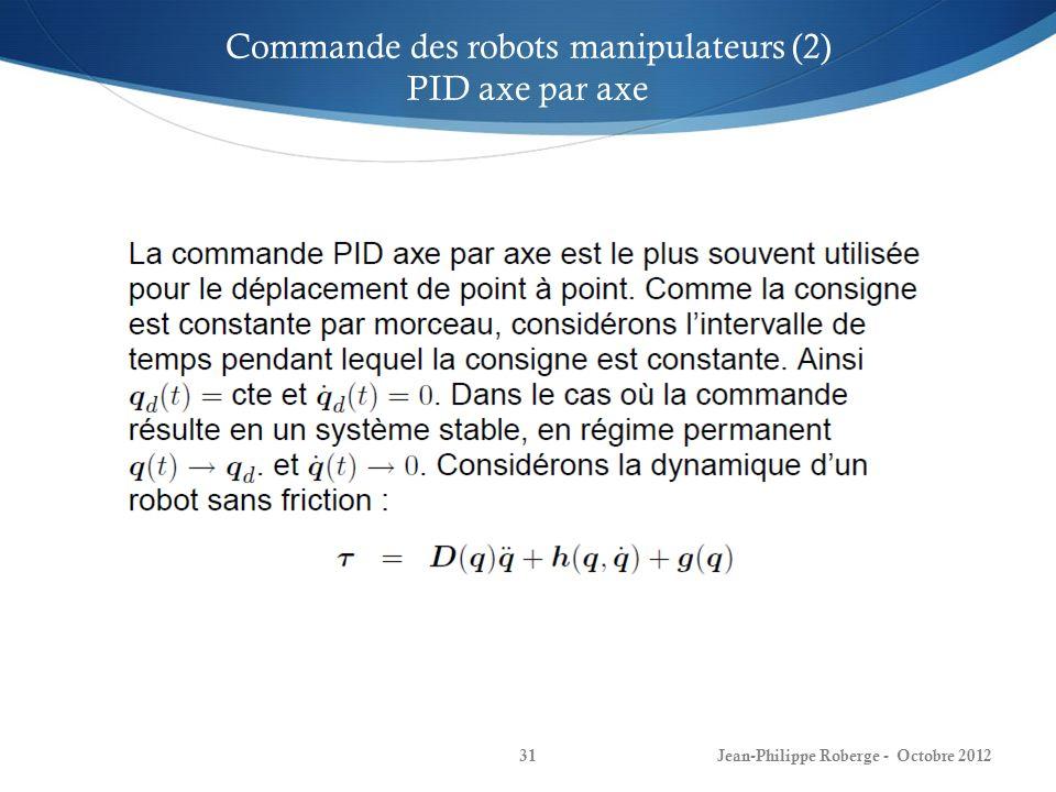 Commande des robots manipulateurs (2)