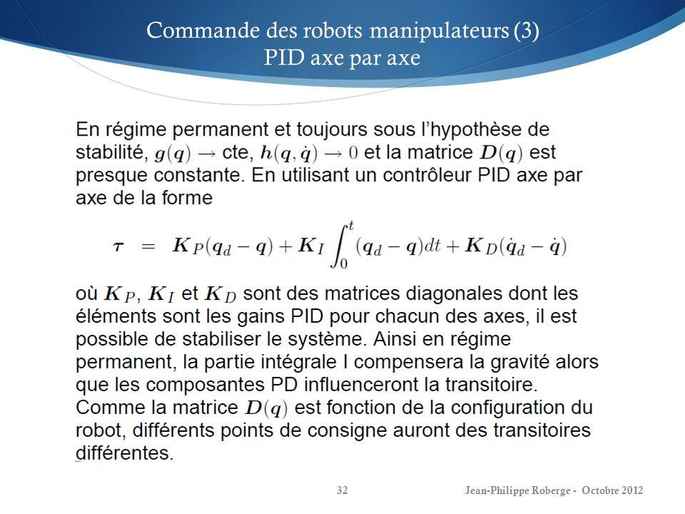 Commande des robots manipulateurs (3)