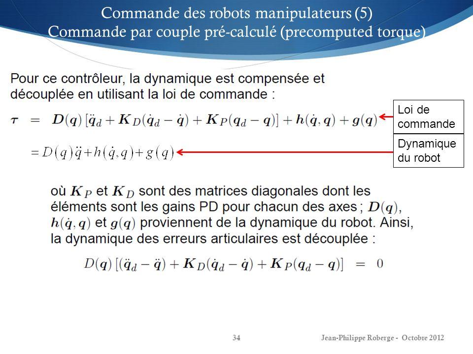 Commande des robots manipulateurs (5)