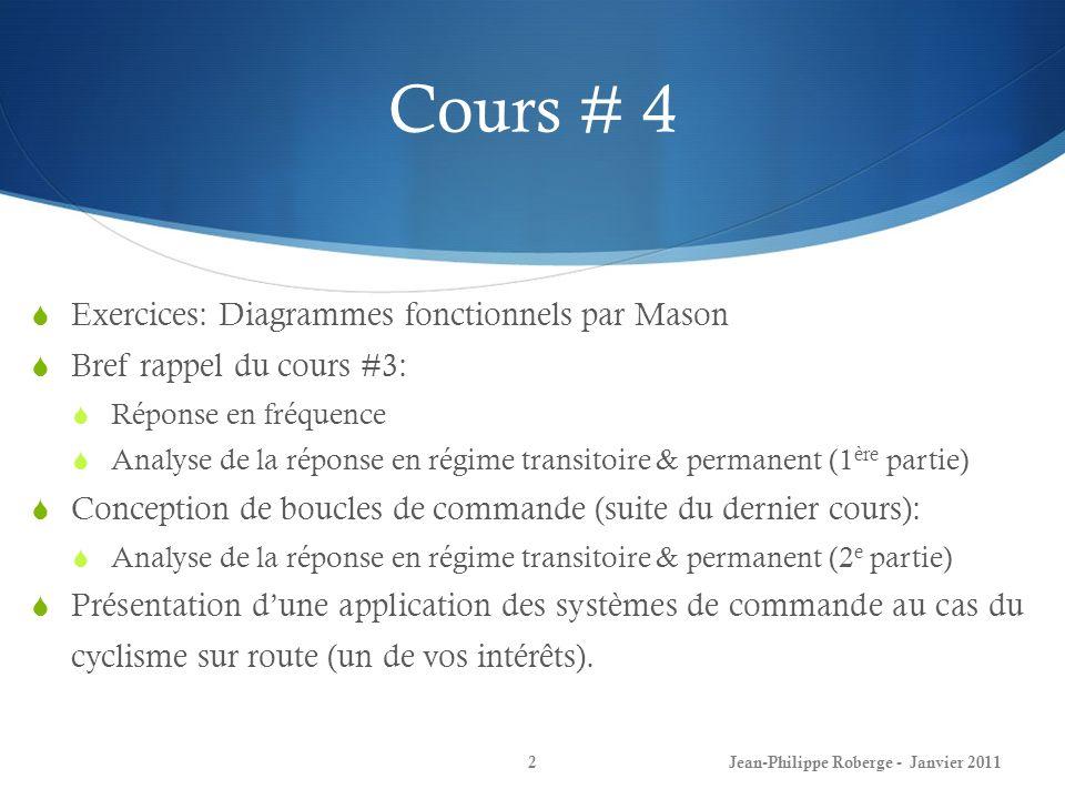 Cours # 4 Exercices: Diagrammes fonctionnels par Mason