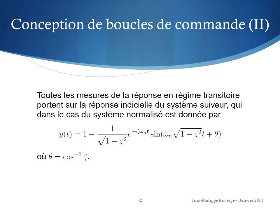 Conception de boucles de commande (II)