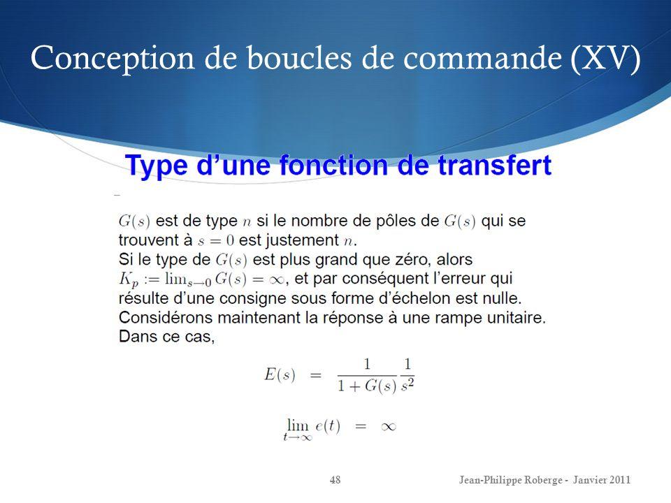 Conception de boucles de commande (XV)