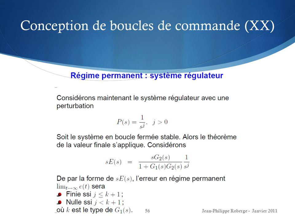 Conception de boucles de commande (XX)