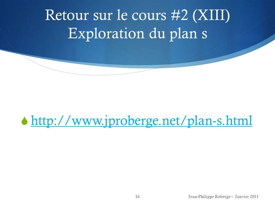 Retour sur le cours #2 (XIII) Exploration du plan s