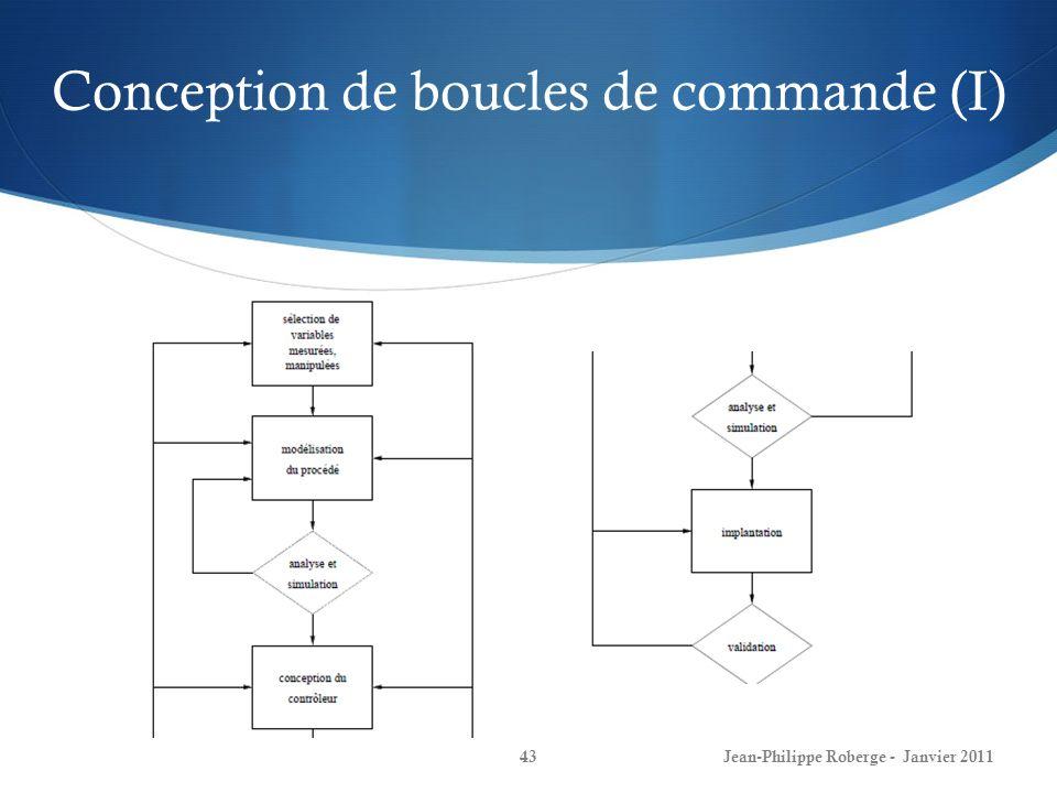 Conception de boucles de commande (I)