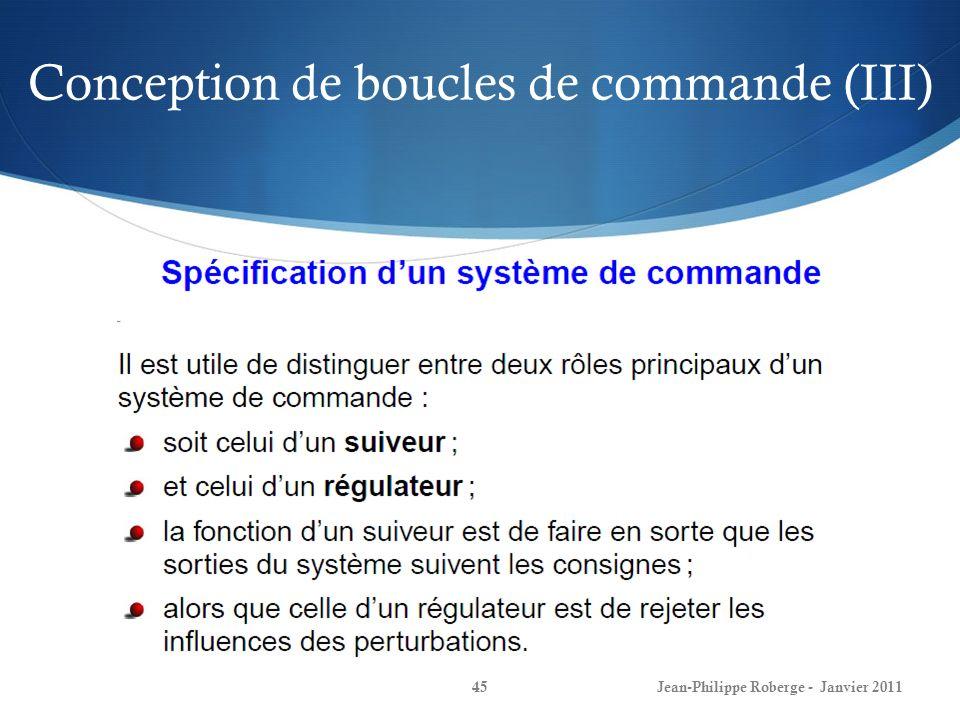 Conception de boucles de commande (III)