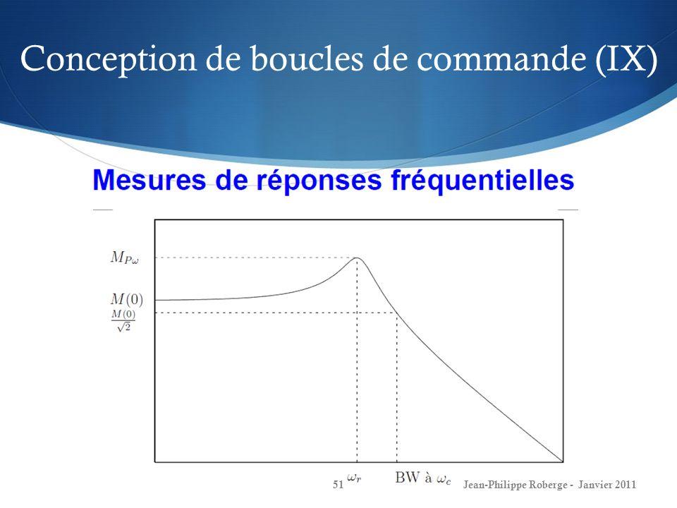 Conception de boucles de commande (IX)