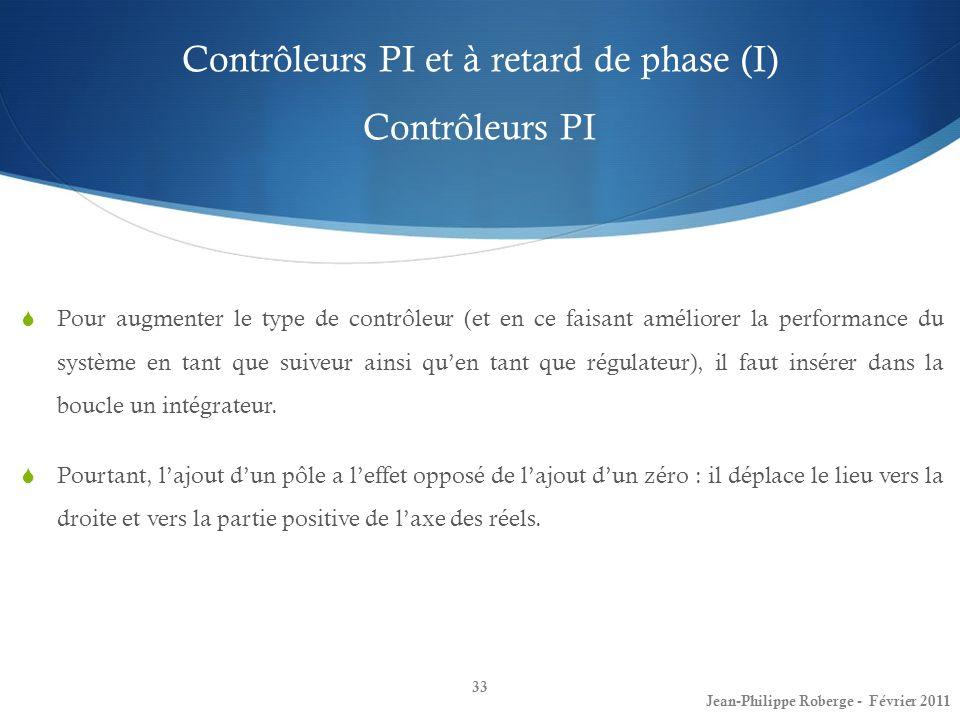 Contrôleurs PI et à retard de phase (I) Contrôleurs PI