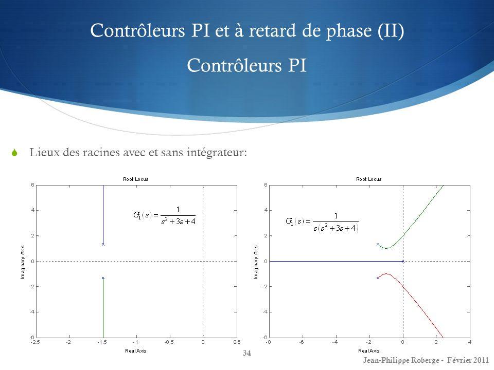 Contrôleurs PI et à retard de phase (II) Contrôleurs PI