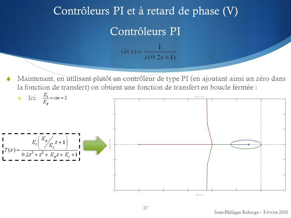 Contrôleurs PI et à retard de phase (V) Contrôleurs PI