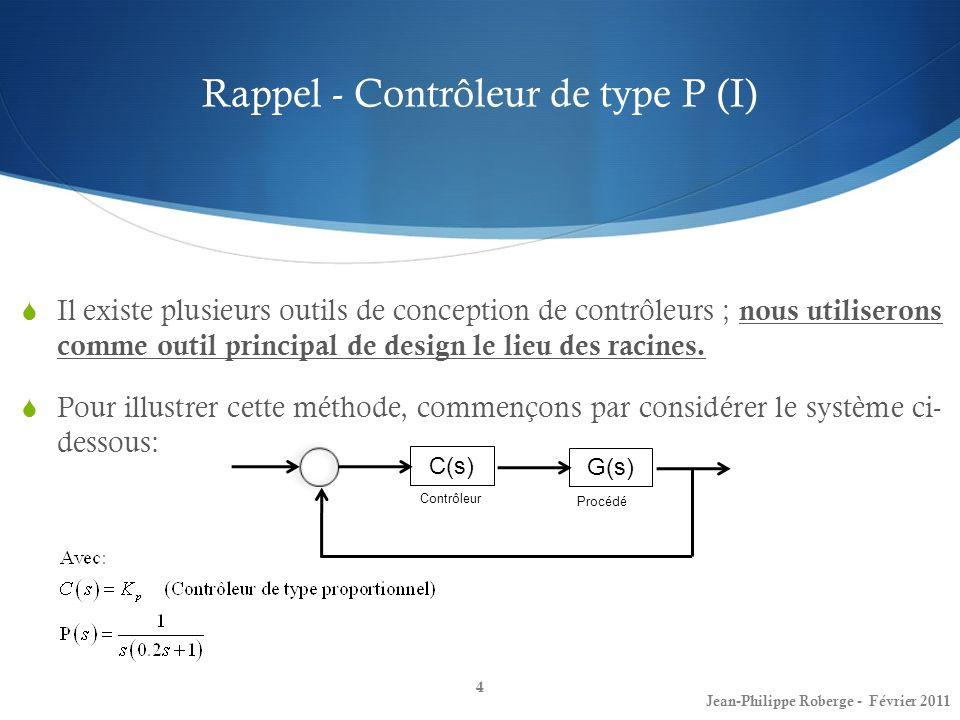 Rappel - Contrôleur de type P (I)