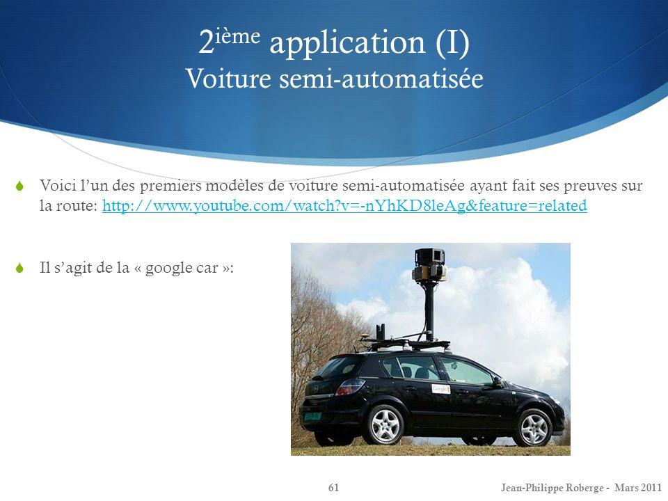 2ième application (I) Voiture semi-automatisée