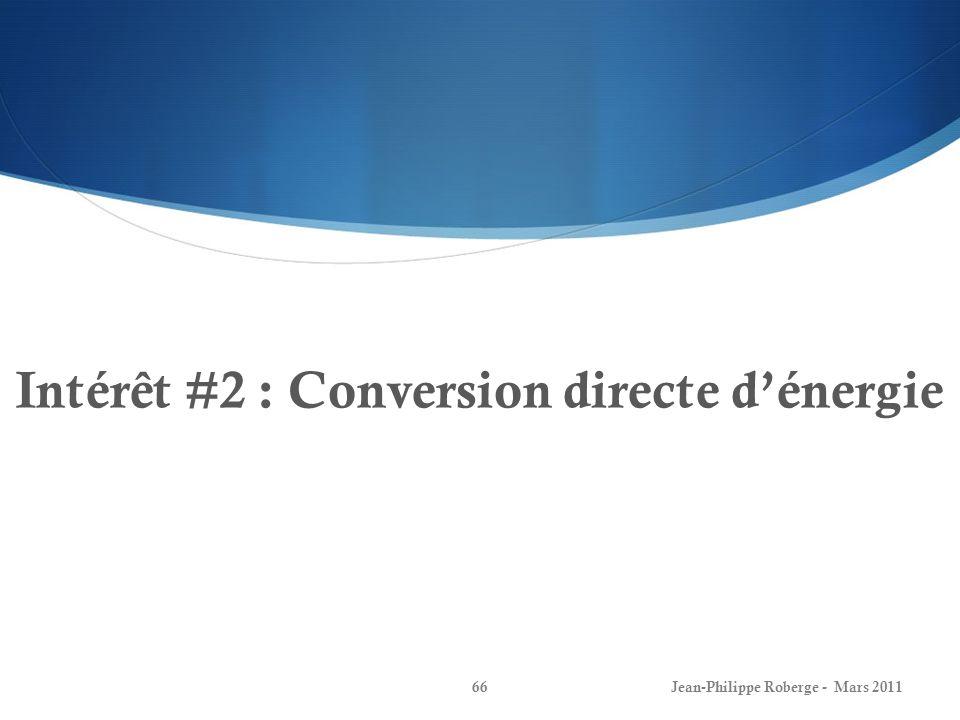 Intérêt #2 : Conversion directe d'énergie