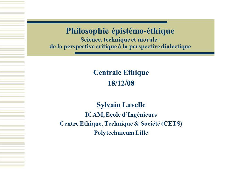 ICAM, Ecole d'Ingénieurs Centre Ethique, Technique & Société (CETS)