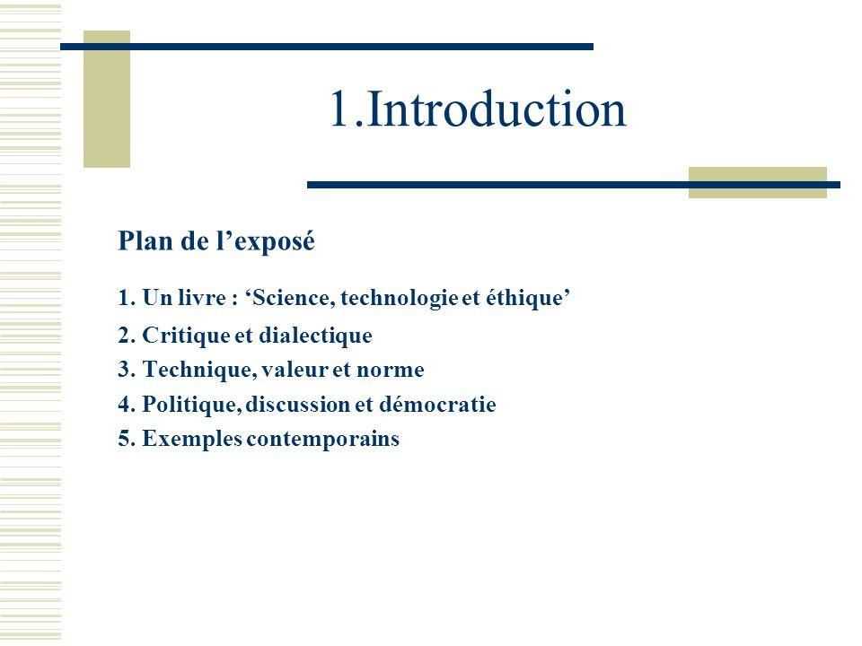 1.Introduction Plan de l'exposé