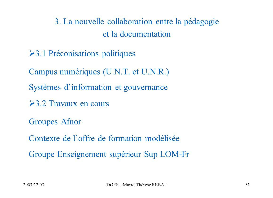 3. La nouvelle collaboration entre la pédagogie et la documentation