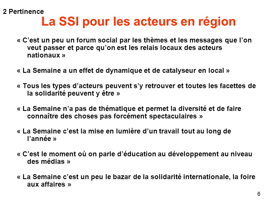 La SSI pour les acteurs en région