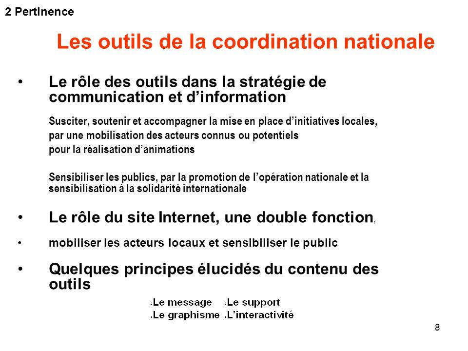 Les outils de la coordination nationale