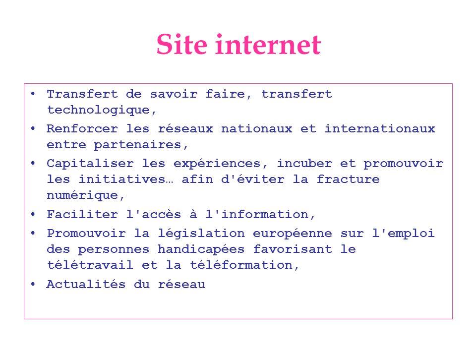 Site internet Transfert de savoir faire, transfert technologique,