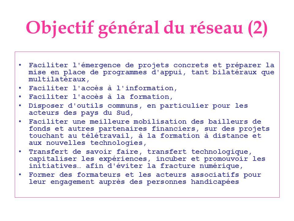 Objectif général du réseau (2)