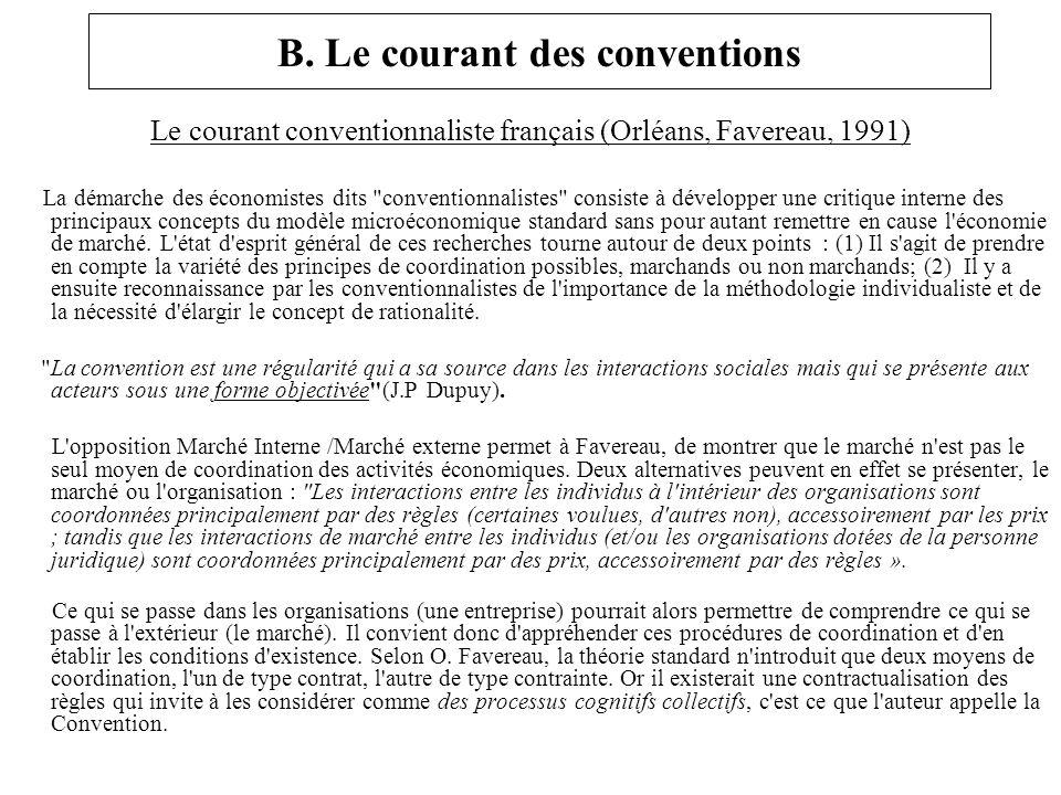 B. Le courant des conventions