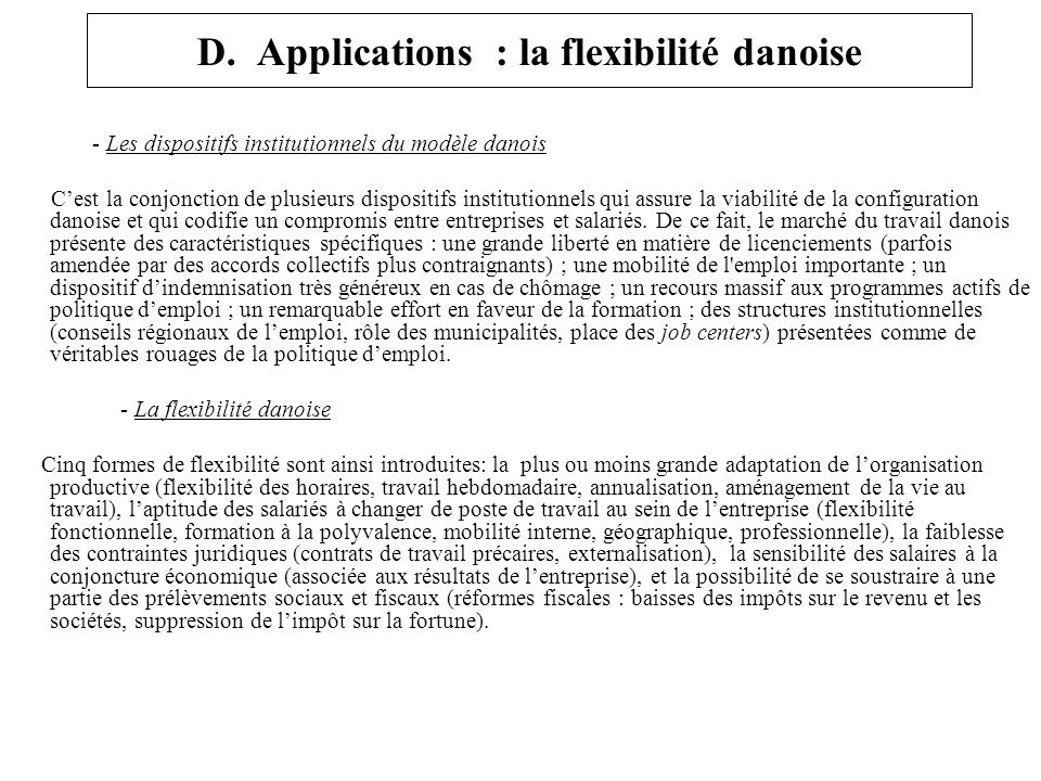 D. Applications : la flexibilité danoise