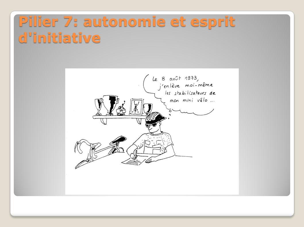 Pilier 7: autonomie et esprit d initiative