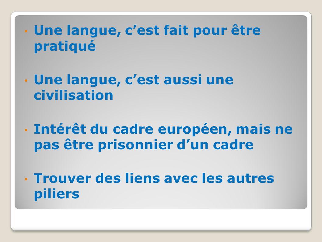 Une langue, c'est fait pour être pratiqué