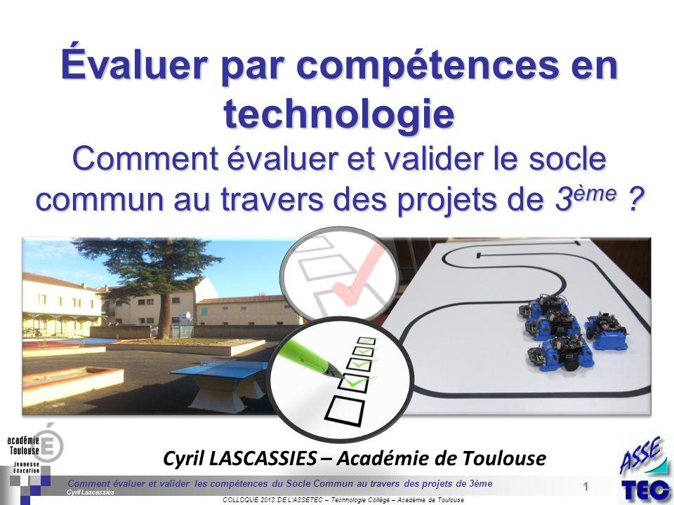 Cyril LASCASSIES – Académie de Toulouse