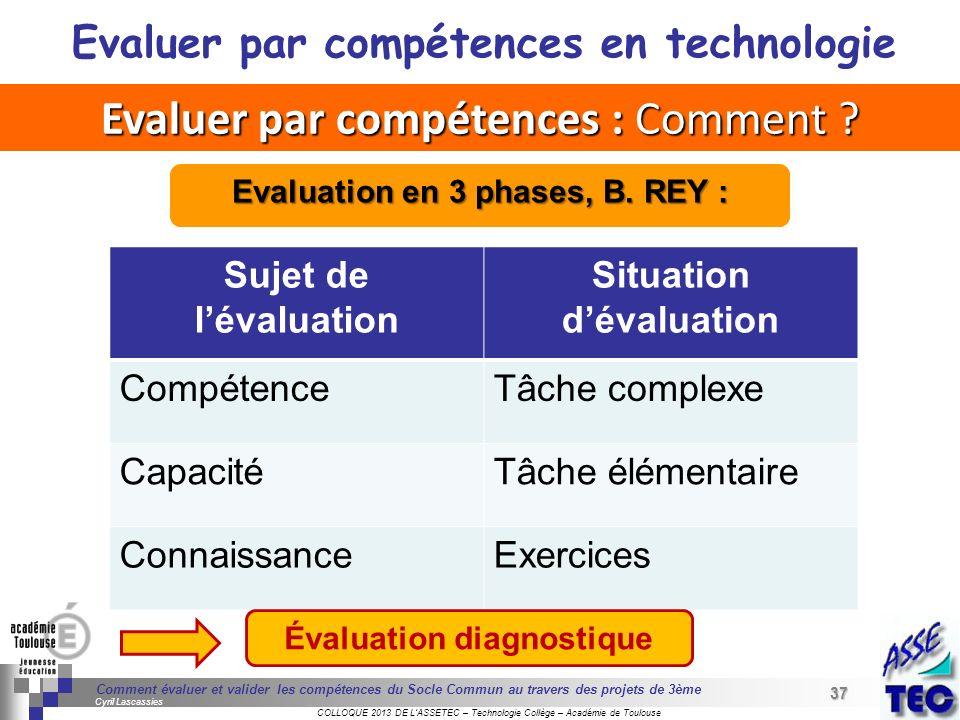 Evaluer par compétences : Comment