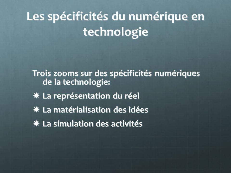 Les spécificités du numérique en technologie