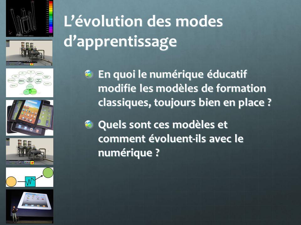 L'évolution des modes d'apprentissage