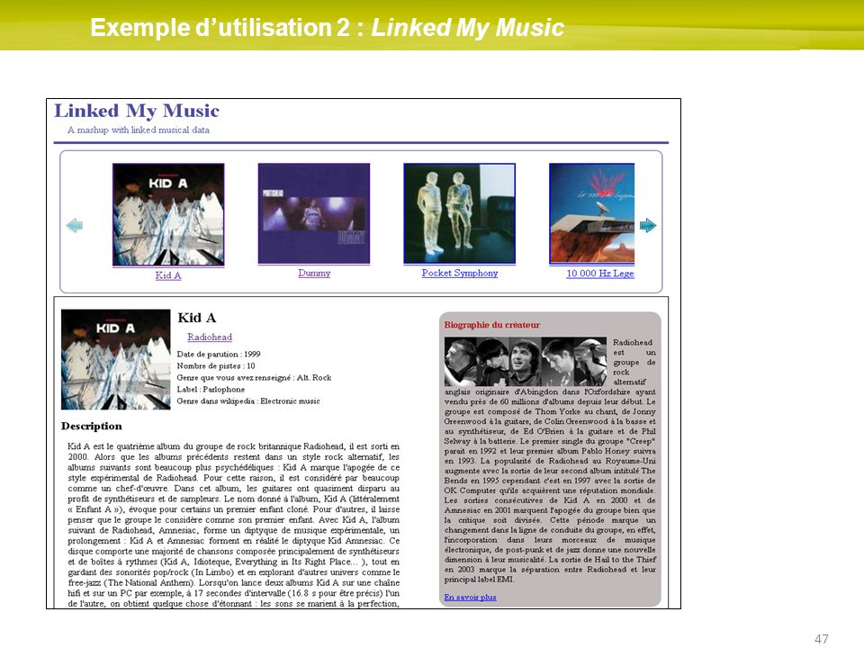 Exemple d'utilisation 2 : Linked My Music