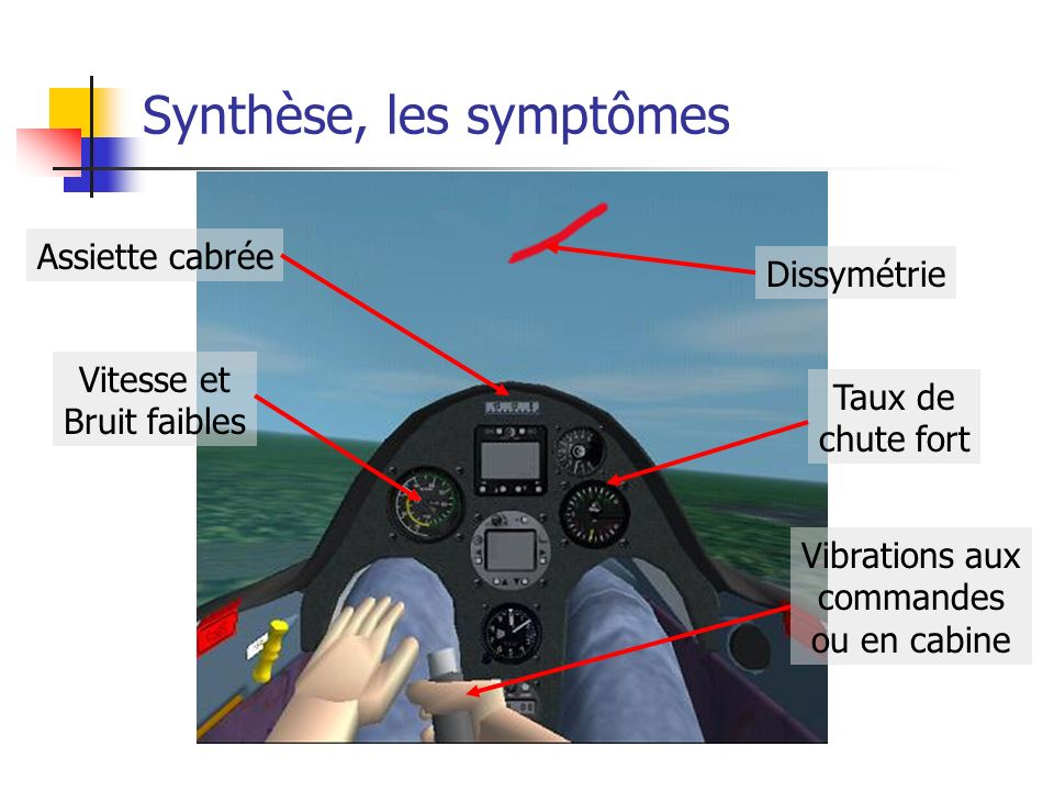 Synthèse, les symptômes
