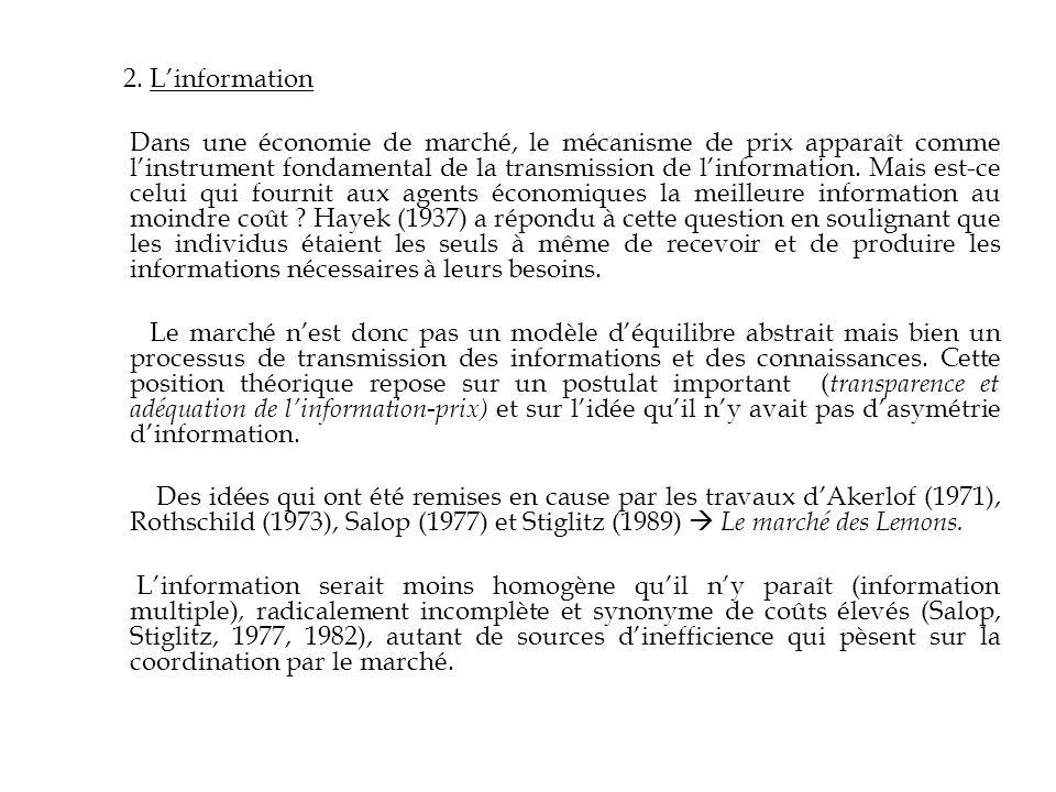 2. L'information