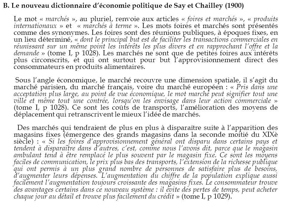B. Le nouveau dictionnaire d'économie politique de Say et Chailley (1900)
