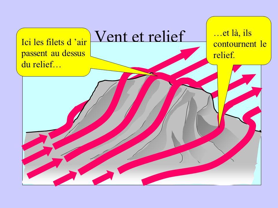 Vent et relief Le relief perturbe l 'écoulement de l 'air