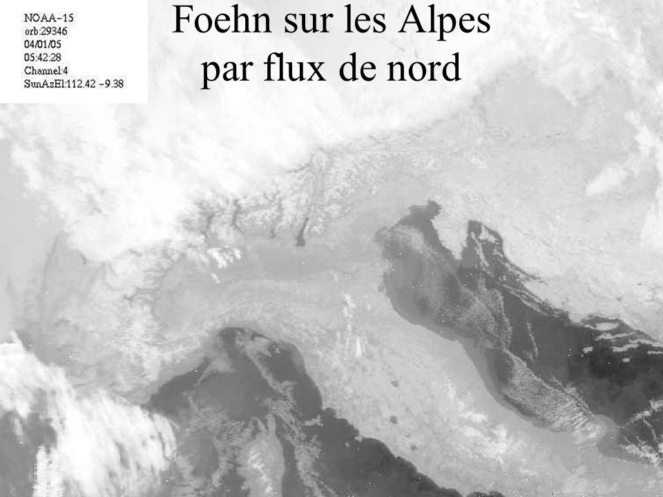 Foehn sur les Alpes par flux de nord