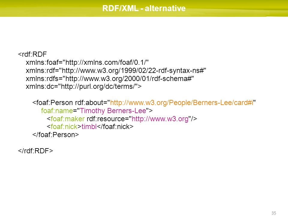 RDF/XML - alternative <rdf:RDF