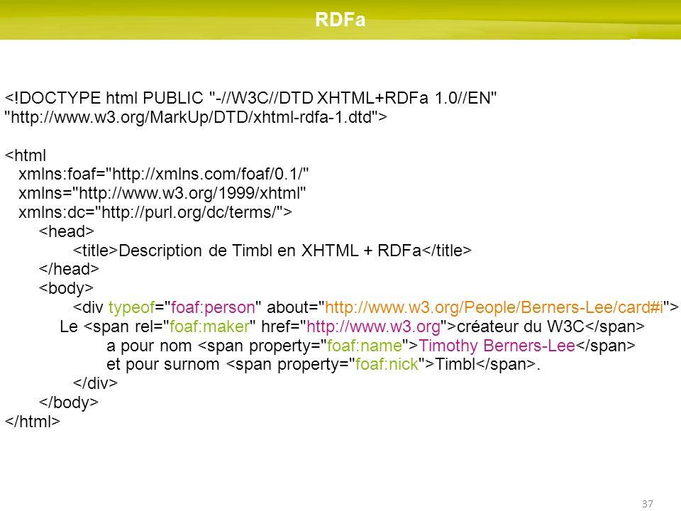 RDFa <!DOCTYPE html PUBLIC -//W3C//DTD XHTML+RDFa 1.0//EN