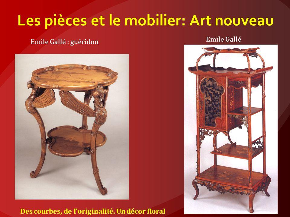Les pièces et le mobilier: Art nouveau