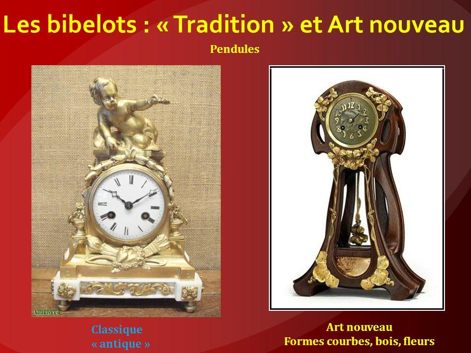 Les bibelots : « Tradition » et Art nouveau